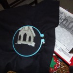 Snowy Church Stitchery