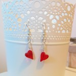 Valentine Earrings for Mama