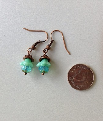 aqua earrings size