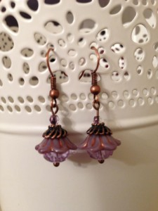 bell flower earrings lavender
